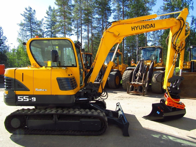 ... Hyundai R55-9 KALLISTAJA ja PYÖRITTÄJÄHUOLLETTU, PUSLATTU Construction  ...